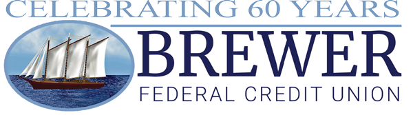 Brewer FCU Celebrating 60 Years Logo