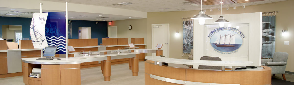 interior photo of brewer federal credit union